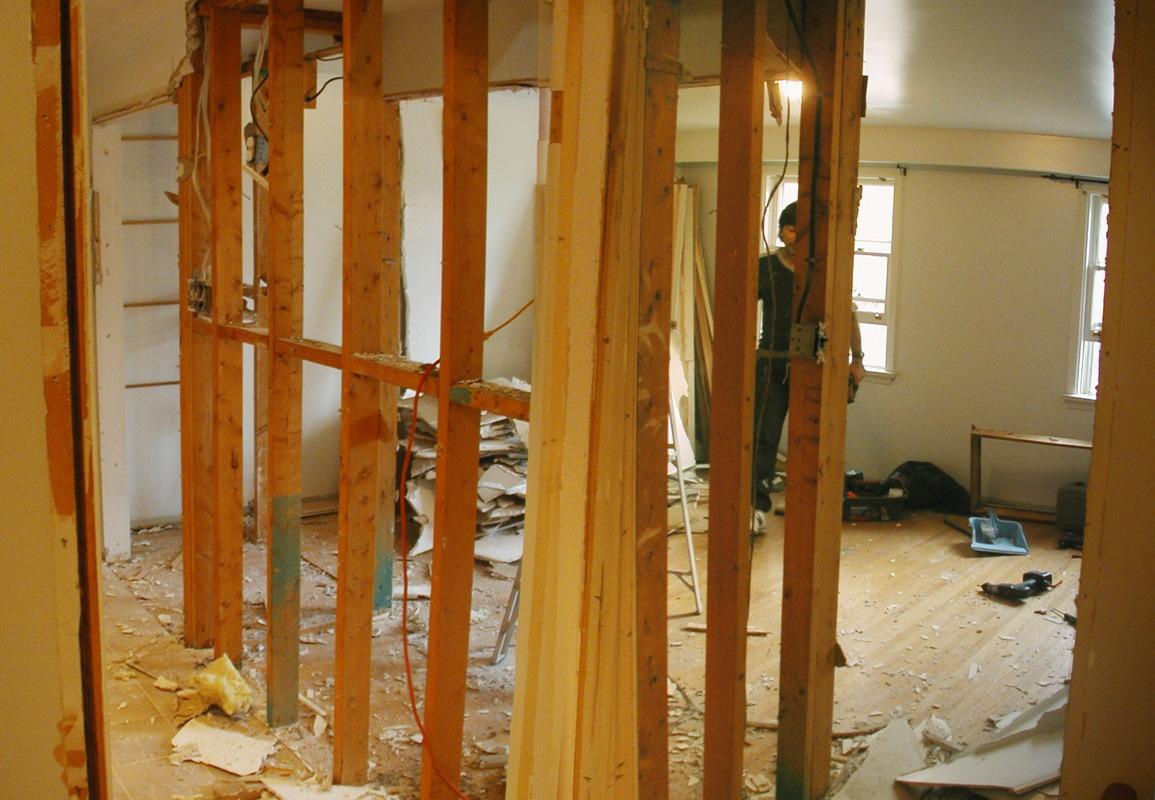 Closet walls gone