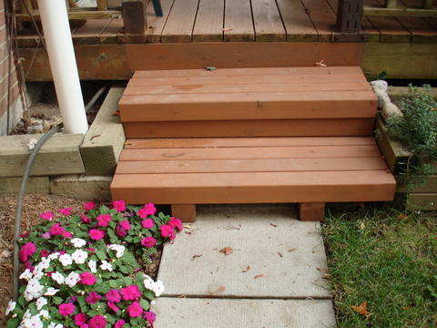 Large deck steps