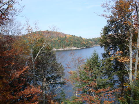 View of the lake from the roof