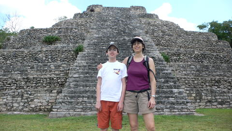Ronnie and Luisa at a Mayan temple