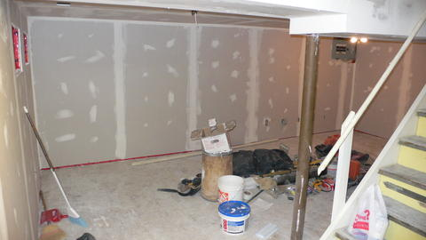 Drywall up