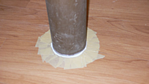 Taped post