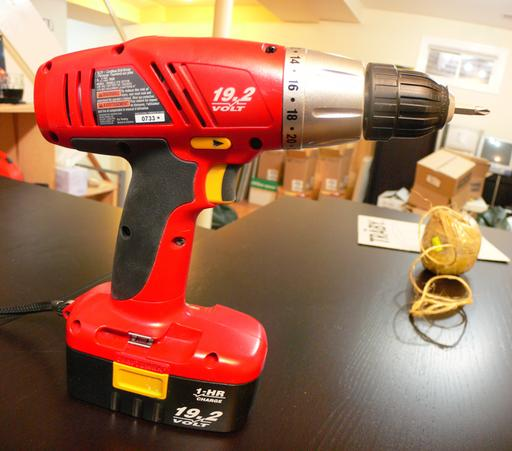 The cordless drill